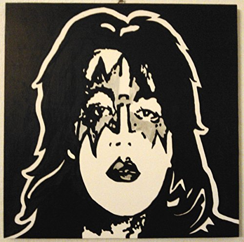 ACE FREHLEY THE SPACEMAN KISS QUADRO PANNELLO LEGNO MDF DIPINTO A MANO POP ART EFFECT