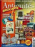 ANTIQUITES BROCANTE N? 78 du 01-09-2004 TOUS LES FAUTEUILS d'occasion  Livré partout en France