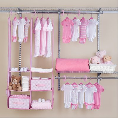 Sale!! Delta Children 24 Piece Nursery Closet Organizer, Pink