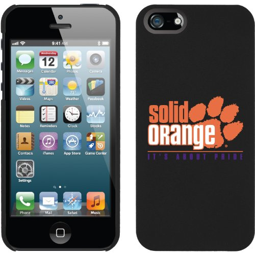 Best Price Clemson - Solid Orange design on a Black iPhone 5s / 5 Thinshield Snap-On Case by Coveroo