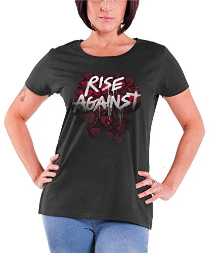 Rise Against - Top - Maniche corte  - Donna grigio Large