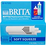 4 X Brita 2 Count Soft Squeeze Water Filter Bottle Replacement Filters