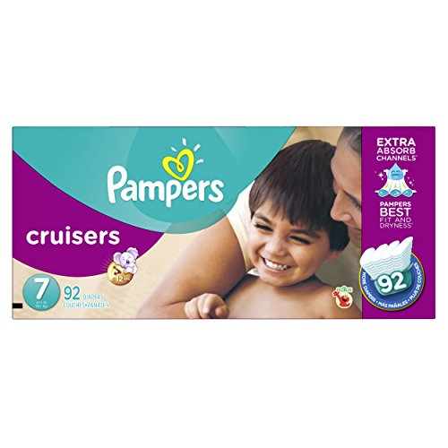 Pampers CruisPampers Cruisers Diapers Economy Plus Pack, Size 7, 92 Count