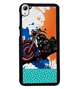Fuson 2D Printed Bike Designer back case cover for HTC Desire 826 - D4485