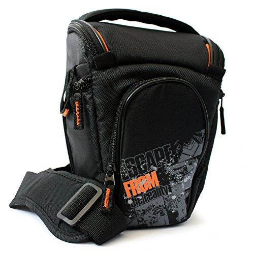 Maxampere 40940 ultraleichte universell Colt Schultertasche für SLR-Kamera mit Tragegurt und Zubehörfächer schwarz