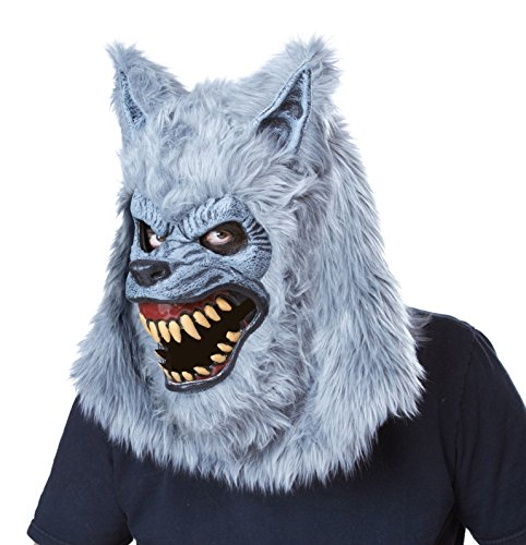 California Costumes Men's Blood Moon Ani-Motion Mask Werewolf Lycan Horror