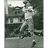 Vintage Photo- Football player throwing pass