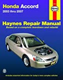 Honda Accord 2003-2007 Repair Manual (Haynes Repair Manual)