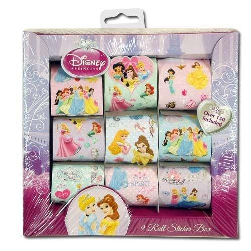Disney Princess 9 Roll Sticker Box Over 150 Stickers