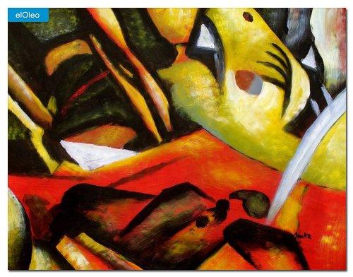 elOleo August Macke – Der Sturmes 30×40 Gemälde auf Leinwand handgemalt 83108A bestellen
