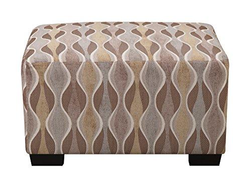 Poundex Bobkona Flora Ottoman, Wave Pattern - 1