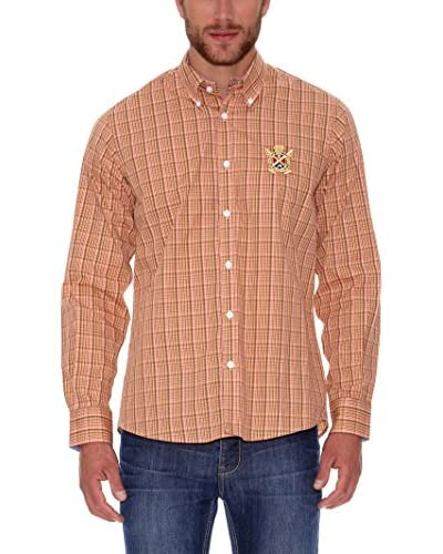 Polo Club Camisa Hombre Fitted Naranja