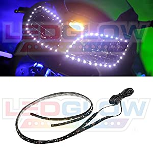 2pc White LED Flexible Motorcycle Headlight Strip Kit