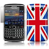 BLACKBERRY BOLD 9700 UNION JACK BACK COVER CASE WITH SCREEN PROTECTOR PART OF THE QUBITS ACCESSORIES RANGEby Qubits