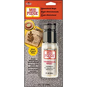 Plaid Mod Podge CS11291 2-Ounce Dimensional Magic, Glitter Silver
