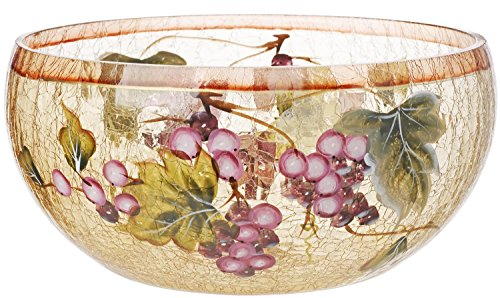 5th Avenue Collection Cracked Glass Candy/Potpourri Bowl - Grape Décor (Grapes Kitchen Accessories compare prices)