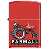 Farmall Super M Red Antique Tractor Zippo Lighter
