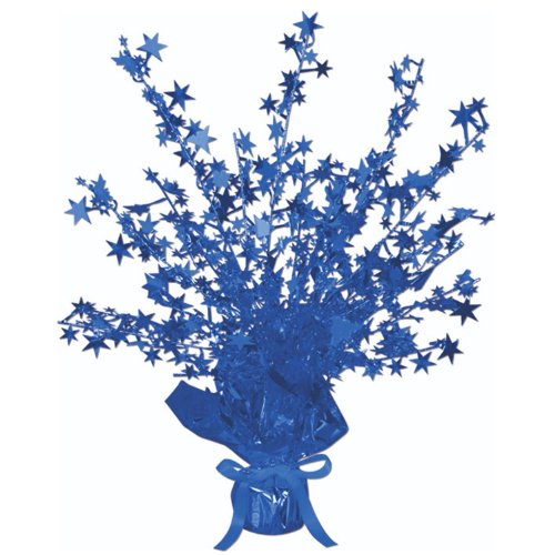 Beistle 50806-B Star Gleam 'N Burst Centerpiece, 15-Inch