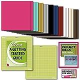 Cricut Premium Vinyl Pack, Standard Grip Mats, Beginner Guide & Designs (Color: Multi)