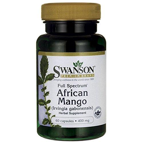 265325514 Swanson Full Spectrum African Mango (Irvingia Gabonensis) 400 Milligrams 60  Capsules