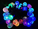 E-Age Multi Color 5meters/16.4ft 50 globe Leds Outdoor String Lights For Independence Day Party Garden Patio Lawn Fence Pergolas Christmas,110-240v
