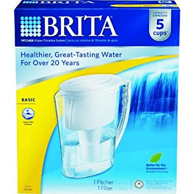 Brita Div of Clorox 42629 Brita Slim Water Filter Pitcher Filtration System