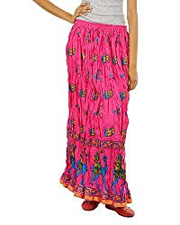 Fashiana Women Rajasthani Treditional Printed Long Cotton skirt