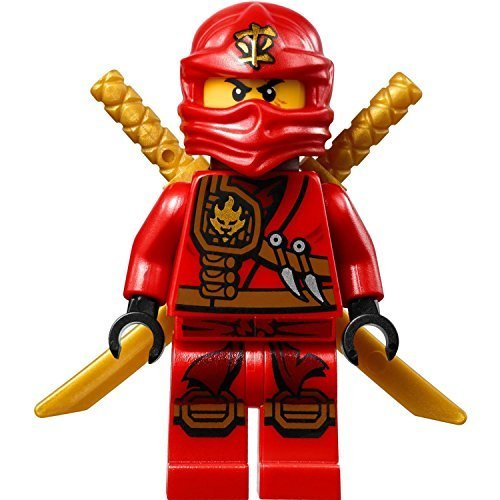 LEGO Ninjago Minifigure - Kai Zukin Robe Jungle Red Ninja with Dual Gold Swords (70745)