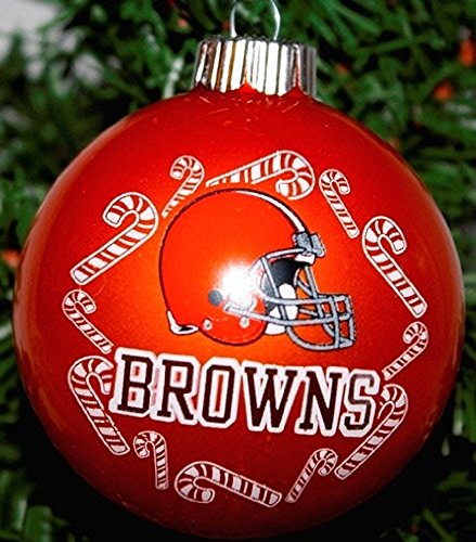 Cleveland Browns NFL Traditional Round Glass Ornament