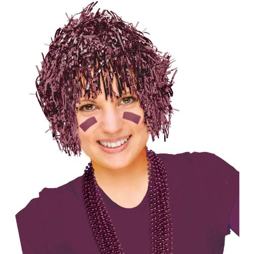 Burgundy Fun Wig - 1