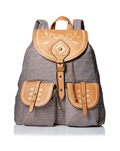 Isabella Fiore Women's El Paso Backpack, Brown Stripe