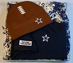 Dallas Baby Onesie & Football Hat Gift Set by Future Tailgater