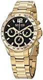 "SO&CO New York Mens Gold ""Specialty Monticello"" Quartz Watch with Date"