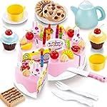 54 PCS DIY Cutting Fruit Birthday Cak...