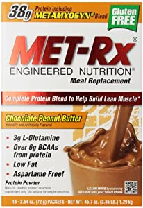 MET-Rx  Meal Replacement powder boxed - Chocolate Peanut Butter, 18-Count Packets