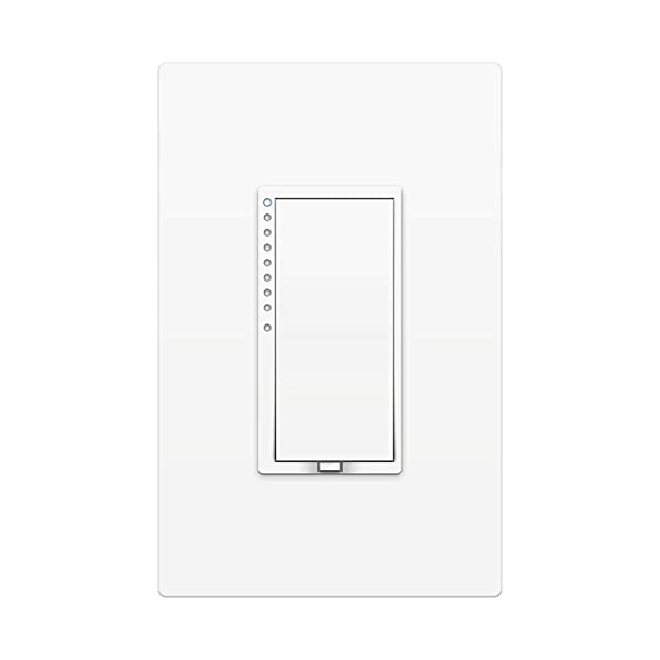 Insteon 2477DH Smart High Wattage Dimmer Wall Switch, Dual-Band, 1000 Watt (White) - Works with Alexa & Google Assistant via Insteon Hub (Color: White)