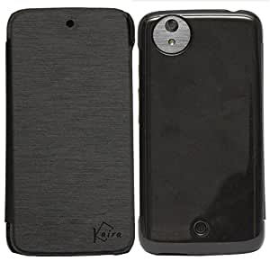 Kaira brand high quality Flip cover (black) For Micromax Android one A1