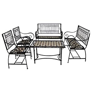 Meubles De Jardin further Lowes   75 Off Garden Treasures Other Patio Furniture likewise Chair Icons Symbol Silhouette Style 533665135 furthermore B007pkpbti likewise Kuba Solid Oak 125cm Dining Table With 4 Lincoln Solid Oak Dining Chairs Light Oak And Brown Leather. on garden furniture table and chairs set