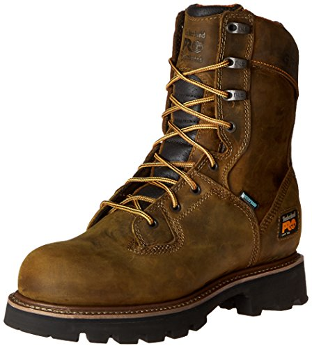 Timberland PRO Men's 8 Inch Crosscut  Soft Toe Logger Work Boot