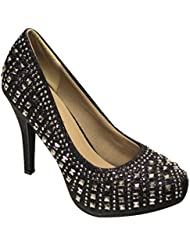 Delicacy Felicia-65 Women S Bead Round Toe High Heel Pumps Shoes