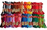 ThreadNanny 100 Color Embroidery Cross Stitch Threads Floss/skeins