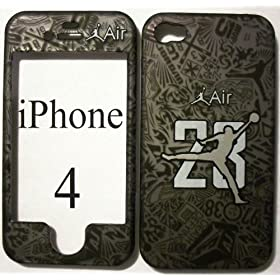 Licensed Jordan Air 23 Retro basketball Apple iPhone 4 Faceplate Hard Cell Protector Case Housing Cover Snap On NEW !!