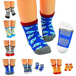 Lystaii 6 Pairs Anti-slip Soft Warm Cotton Baby Children Thick Socks for 1-3 Years Baby 12-15cm
