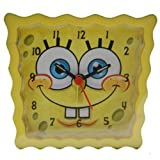 Spongebob Squarepants Analogue Yellow Kids Alarm Clock SBCLK03