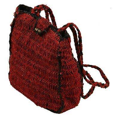 Hemp Box Style Shoulder Bag - Medium