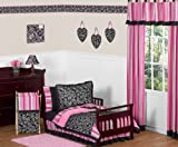 Pink and Black Madison Girls Boutique Toddler Bedding 5 pc set