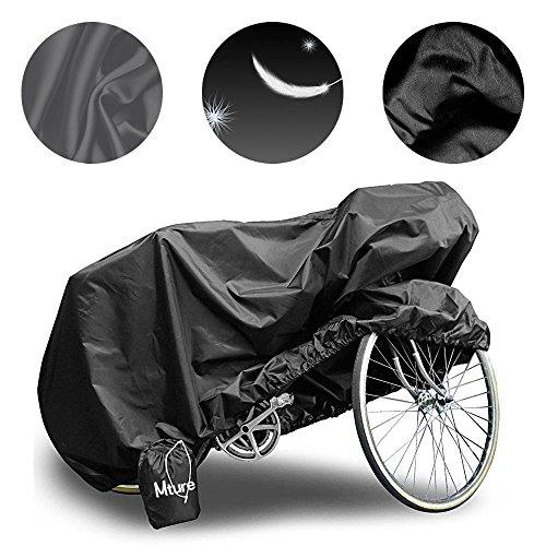 MTURE Telo protettivo impermeabile per biciclette e biciclette elettriche,Antipolvere (Nero)