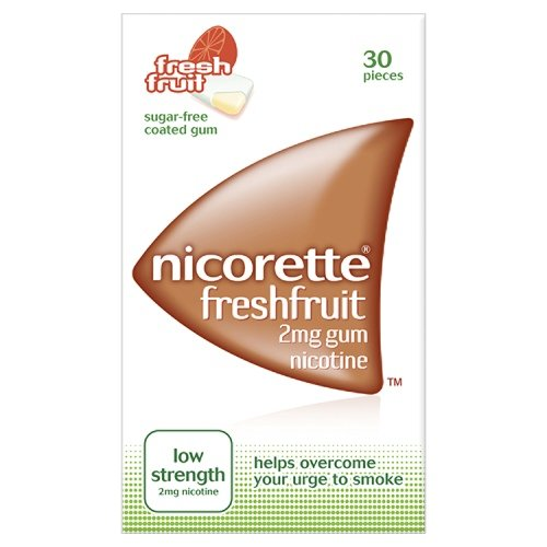 Nicorette Chewing Gum 2mg Freshfruit - 30 Pieces