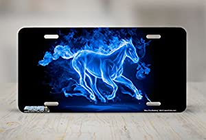 """493-""""Fire Mustang Blue""""-Horse License Plates"""