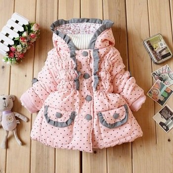 Children'S Clothing Autumn And Winter The Baby Cartoon Korean Version Coat Cotton-Padded Clothes (7-9 Months)